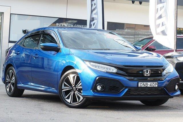 Used Honda Civic 10th Gen MY17 VTi-LX Homebush, 2017 Honda Civic 10th Gen MY17 VTi-LX Blue 1 Speed Constant Variable Hatchback