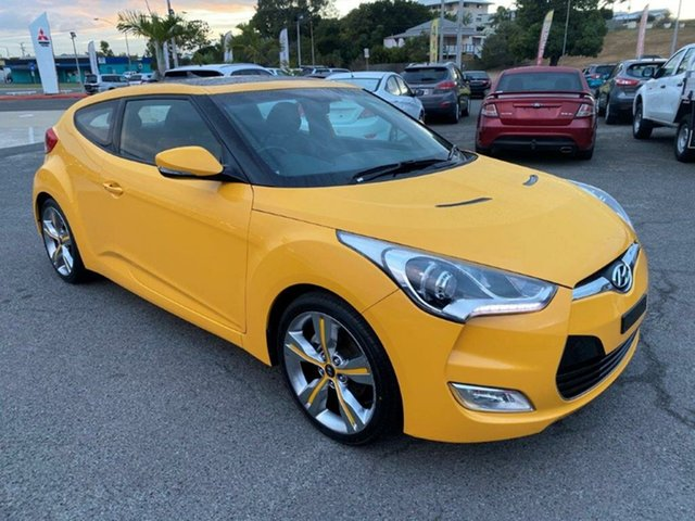 Used Hyundai Veloster FS2 Coupe D-CT Gladstone, 2012 Hyundai Veloster FS2 Coupe D-CT Yellow 6 Speed Sports Automatic Dual Clutch Hatchback