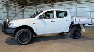 2008 Mitsubishi Triton ML MY08 GLX White 4 Speed Automatic Cab Chassis.