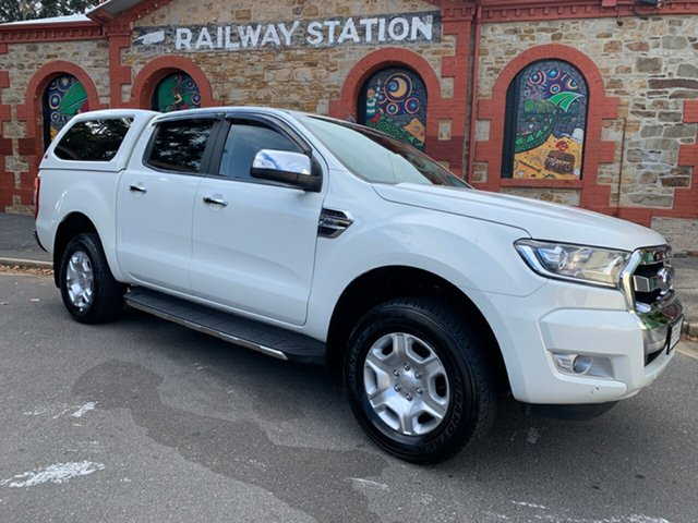 Used Ford Ranger PX MkII XLT Double Cab Cheltenham, 2016 Ford Ranger PX MkII XLT Double Cab White 6 Speed Manual Utility
