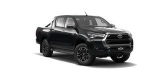 2021 Toyota Hilux GUN136R SR5 Double Cab 4x2 Hi-Rider Eclipse Black 6 Speed Sports Automatic Utility.