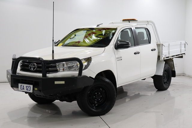 Used Toyota Hilux GUN126R SR Double Cab Brooklyn, 2017 Toyota Hilux GUN126R SR Double Cab White 6 Speed Sports Automatic Cab Chassis