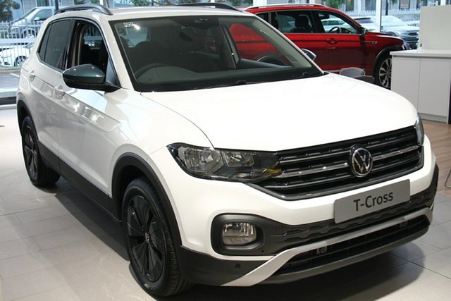 New Volkswagen T-Cross C1 MY21 85TSI DSG FWD CityLife Maitland, 2021 Volkswagen T-Cross C1 MY21 85TSI DSG FWD CityLife Pure White 7 Speed