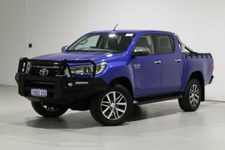 2018 Toyota Hilux GUN126R MY19 SR5 (4x4) Blue 6 Speed Automatic Double Cab Pick Up.