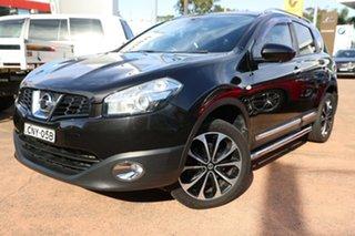 2013 Nissan Dualis J10 MY13 TI-L (4x4) Black 6 Speed CVT Auto Sequential Wagon.