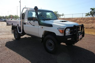 2018 Toyota Landcruiser VDJ79R Workmate French Vanilla 5 Speed Manual Cab Chassis.