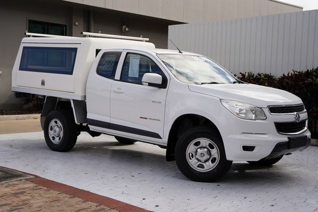 Used Holden Colorado RG MY14 LX Space Cab Cairns, 2014 Holden Colorado RG MY14 LX Space Cab White 6 Speed Manual Cab Chassis