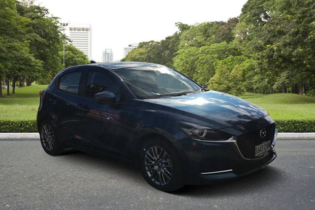 Demo Mazda 2 DJ2HAA G15 SKYACTIV-Drive Evolve Paradise, 2021 Mazda 2 DJ2HAA G15 SKYACTIV-Drive Evolve Eternal Blue 6 Speed Sports Automatic Hatchback