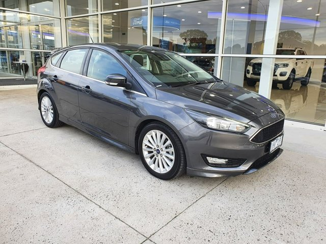 Used Ford Focus LZ Sport Ferntree Gully, 2016 Ford Focus LZ Sport Grey 6 Speed Automatic Hatchback
