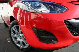 2013 Mazda 2 DE10Y2 MY13 Neo True Red 4 Speed Automatic Hatchback.