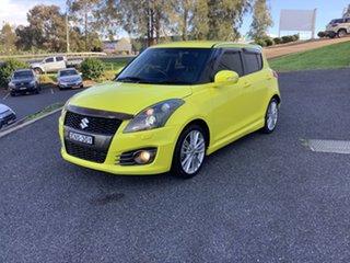 2016 Suzuki Swift FZ MY15 Sport Yellow 7 Speed Constant Variable Hatchback.