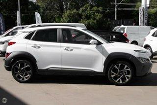 2021 Hyundai Kona Os.v4 MY21 Highlander 2WD Atlas White 8 Speed Constant Variable Wagon.