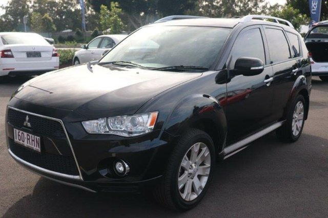 Used Mitsubishi Outlander ZH MY10 XLS Augustine Heights, 2010 Mitsubishi Outlander ZH MY10 XLS Black 6 Speed Constant Variable Wagon