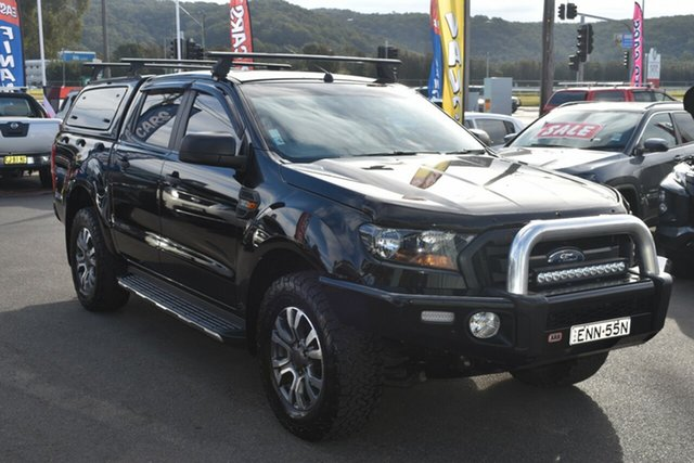 Used Ford Ranger PX MkII XLS Double Cab Gosford, 2017 Ford Ranger PX MkII XLS Double Cab Black 6 Speed Sports Automatic Utility