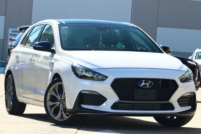 New Hyundai i30 PD.V4 MY21 N Line Premium Toowoomba, 2020 Hyundai i30 PD.V4 MY21 N Line Premium Polar White 6 Speed Manual Hatchback