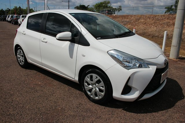 Pre-Owned Toyota Yaris NCP130R Ascent Darwin, 2018 Toyota Yaris NCP130R Ascent Glacier White 5 Speed Manual Hatchback