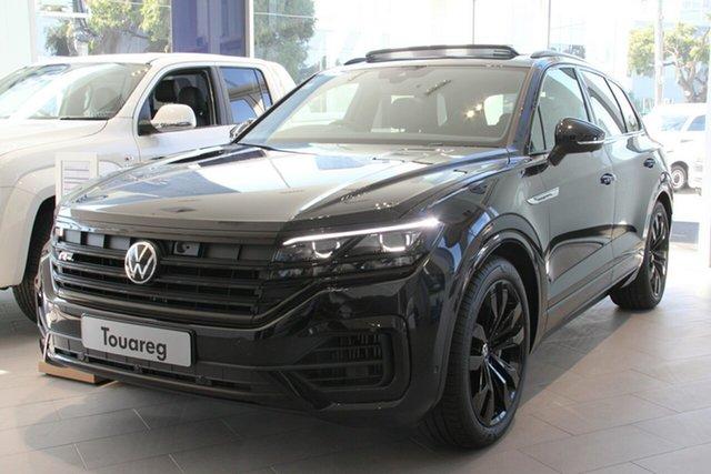 New Volkswagen Touareg CR MY21 210TDI Tiptronic 4MOTION Wolfsburg Edition Cardiff, 2021 Volkswagen Touareg CR MY21 210TDI Tiptronic 4MOTION Wolfsburg Edition Deep Black Pearl Effect