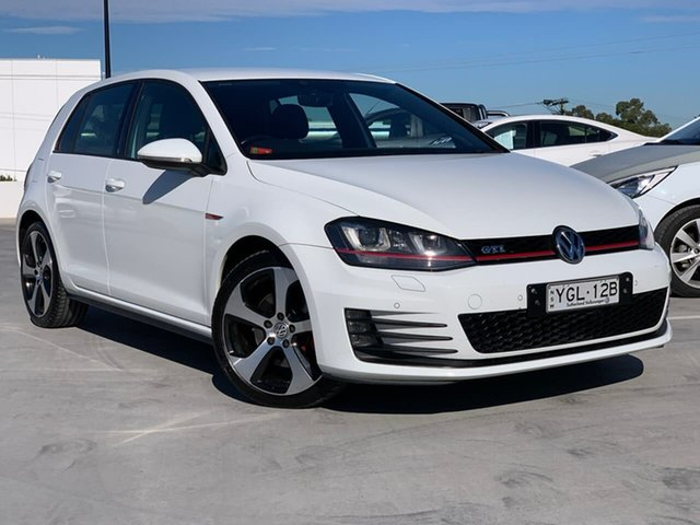 Used Volkswagen Golf VII MY17 GTI DSG Liverpool, 2016 Volkswagen Golf VII MY17 GTI DSG White 6 Speed Sports Automatic Dual Clutch Hatchback