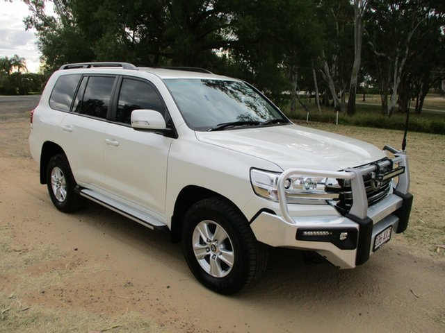 Pre-Owned Toyota Landcruiser VDJ200R MY16 GXL (4x4) Roma, 2018 Toyota Landcruiser VDJ200R MY16 GXL (4x4) Crystal Pearl 6 Speed Automatic Wagon