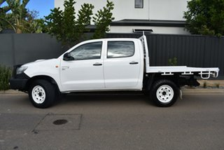 2013 Toyota Hilux KUN26R MY12 SR Double Cab White 5 Speed Manual Utility.