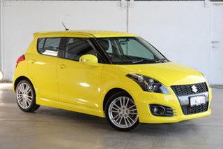 2015 Suzuki Swift FZ MY15 Sport Yellow 6 Speed Manual Hatchback.