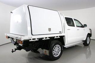2012 Toyota Hilux KUN26R MY12 SR5 (4x4) White 4 Speed Automatic Dual Cab Pick-up
