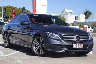2015 Mercedes-Benz C-Class W205 C200 7G-Tronic + Dark Grey 7 Speed Sports Automatic Sedan.