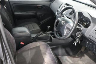 2014 Toyota Hilux TGN16R MY14 Workmate Double Cab 4x2 Grey 4 Speed Automatic Utility
