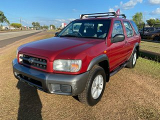 2000 Nissan Pathfinder WX II ST Red 4 Speed Automatic Wagon.