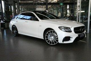 2017 Mercedes-Benz E-Class W213 E43 AMG 9G-Tronic PLUS 4MATIC White 9 Speed Sports Automatic Sedan.