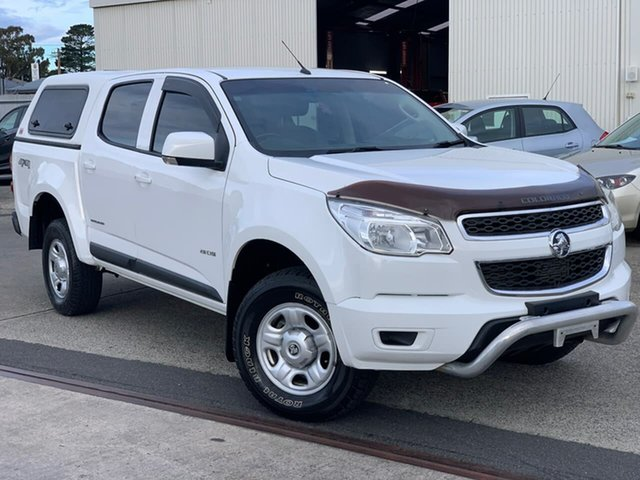 Used Holden Colorado RG MY14 LX Crew Cab 4x2 Moonah, 2013 Holden Colorado RG MY14 LX Crew Cab 4x2 White 6 Speed Sports Automatic Utility