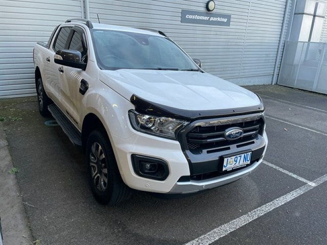 Used Ford Ranger PX MkIII 2019.00MY Wildtrak Devonport, 2019 Ford Ranger PX MkIII 2019.00MY Wildtrak White 6 Speed Sports Automatic Double Cab Pick Up