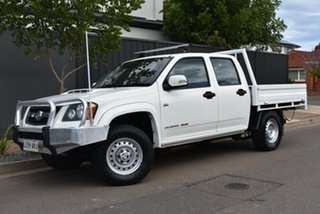 2010 Holden Colorado RC MY11 LX Crew Cab White 5 Speed Manual Cab Chassis.