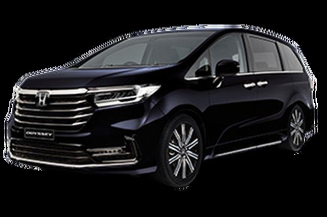 Demo Honda Odyssey RC 21YM Vi LX7 Hamilton, 2021 Honda Odyssey RC 21YM Vi LX7 Premium Twinkle Black 7 Speed Constant Variable Wagon