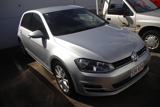 Used Volkswagen Golf VII MY16 110TSI DSG Highline Mount Gravatt, 2015 Volkswagen Golf VII MY16 110TSI DSG Highline Silver 7 Speed Sports Automatic Dual Clutch