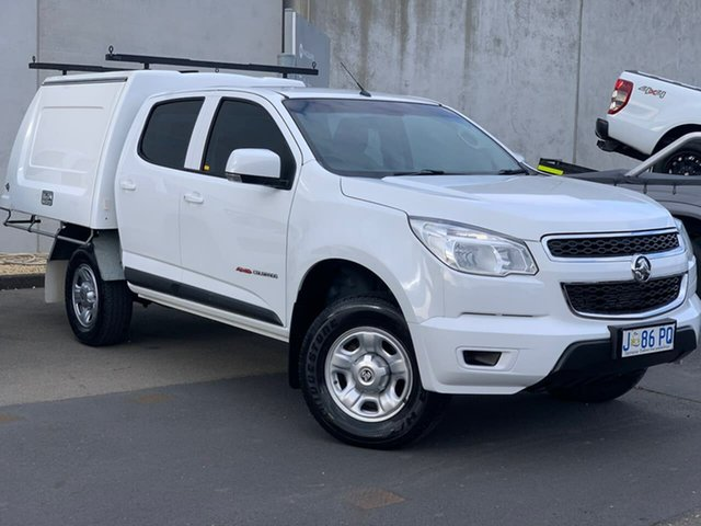 Used Holden Colorado RG MY16 LS Crew Cab Moonah, 2016 Holden Colorado RG MY16 LS Crew Cab White 6 Speed Sports Automatic Cab Chassis