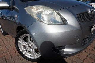2006 Toyota Yaris NCP91R YRS Medium Silver 4 Speed Automatic Hatchback.