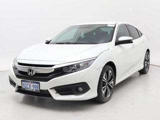 2016 Honda Civic MY16 VTi-L White Continuous Variable Sedan.