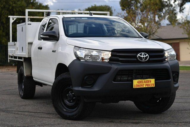Used Toyota Hilux GUN125R Workmate Extra Cab Enfield, 2016 Toyota Hilux GUN125R Workmate Extra Cab White 6 Speed Manual Cab Chassis