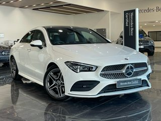 2019 Mercedes-Benz CLA-Class C117 809MY CLA200 DCT White 7 Speed Sports Automatic Dual Clutch Coupe.
