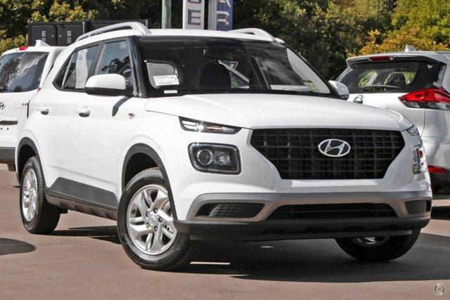 New Hyundai Venue QX.V3 MY21 Oakleigh, 2021 Hyundai Venue QX.V3 MY21 White 6 Speed Manual Wagon