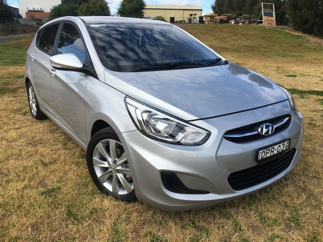 Used Hyundai Accent Active Dubbo, 2017 Hyundai Accent RB4 Active Silver Manual