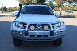 2011 Volkswagen Amarok 2H TDI400 Highline (4x4) White 6 Speed Manual Dual Cab Utility.