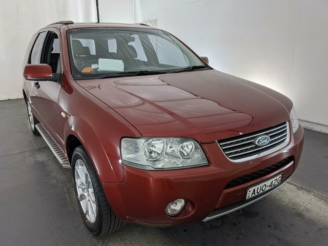 Used Ford Territory SX Ghia Maryville, 2005 Ford Territory SX Ghia Maroon 4 Speed Sports Automatic Wagon