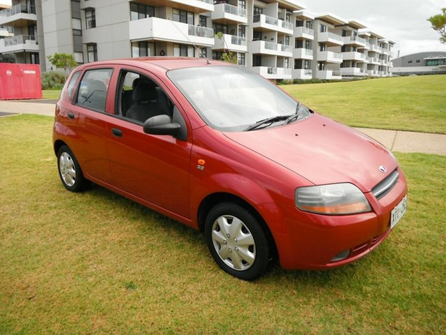 Used Daewoo Kalos T200 Glenelg, 2003 Daewoo Kalos T200 Red 4 Speed Automatic Hatchback