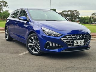 2020 Hyundai i30 PD.V4 MY21 Active Intense Blue 6 Speed Sports Automatic Hatchback.