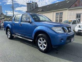 2010 Nissan Navara D40 ST-X (4x4) Blue 5 Speed 5 SP AUTOMATIC Dual Cab Pick-up.