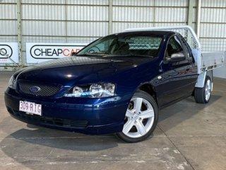 2003 Ford Falcon BA XL Ute Super Cab Blue 5 Speed Manual Utility.