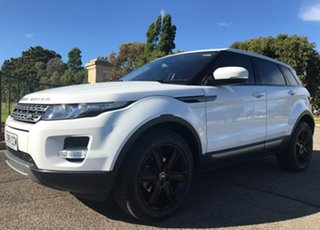 2012 Land Rover Range Rover Evoque L538 MY12 TD4 CommandShift Pure White 6 Speed Sports Automatic.