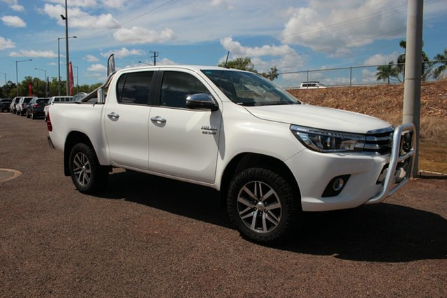 Pre-Owned Toyota Hilux GUN126R SR5 Double Cab Darwin, 2017 Toyota Hilux GUN126R SR5 Double Cab Glacier White 6 Speed Automatic Dual Cab